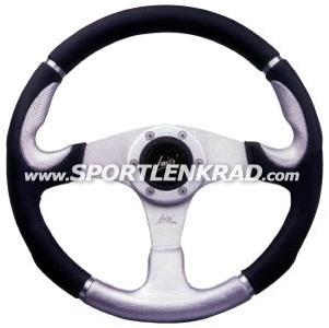 Orion Sport-Lenkrad, Polyurethan schwarz / silber, 36 cm
