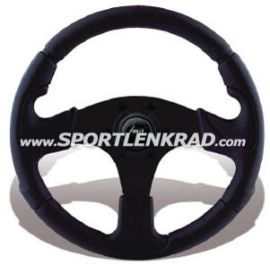 Kobra Sport-Lenkrad 32 cm, schwarz/Polyurethan, sw.Speiche