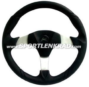 Sirio Sport-Lenkrad, Polyurethan sw., 35cm, Alu-Speiche