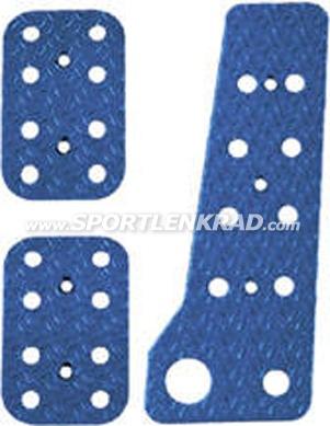 Pedalerie(-platten)Satz blau, 3-tlg.