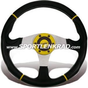 Century Sport 340 Sport-Lenkrad, gelber Ring/Streifen