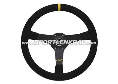 Mirage Corsa Sport-Lenkrad, Wildleder sw./35, sw. Speiche