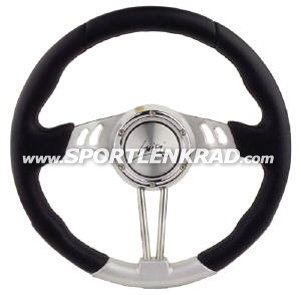 Gran Turismo 35 cm, Polyur. sw./ silb., Speiche Alu/chr.