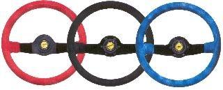 Jet Sport-Lenkrad, Leder rot/35, sw. Speiche