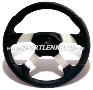 Vega Sport-Lenkrad, Polyurethan schwarz, 35cm, Alu-Speiche