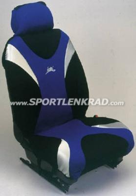 Sitzbezug Metal, schwarz/silber/blau