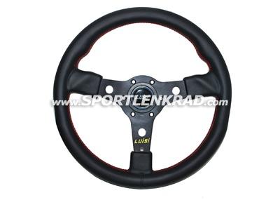 Racing Sport-Lenkrad, Leder sw./35, sw. Speiche