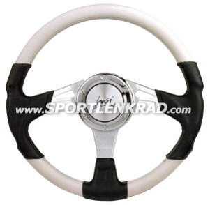Strada Sport-Lenkrad, Leder sw.-/wß. 35 cm