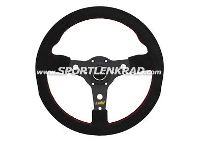 Racing Sport-Lenkrad, Wildleder sw./35, sw. Speiche