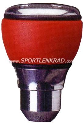 Luisi Schaltknauf Sprint Led, Aluminium/rotes Leder