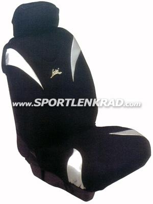 Sitzbezug Metal, schwarz/silber
