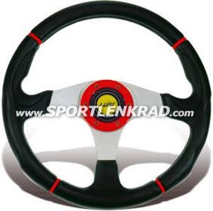 Century Sport 340 Sport-Lenkrad, roter Ring/Streifen
