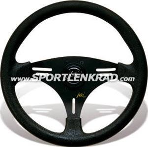 Grip Sport-Lenkrad, Kunstleder, sw. Speiche, 35,5 cm
