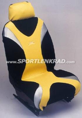 Sitzbezug Metal, schwarz/silber/gelb