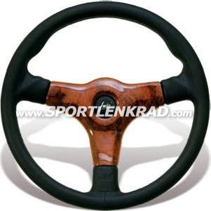 Giba 3 Prestige II Sport-Lenkrad, Leder schwarz, 35,5 cm