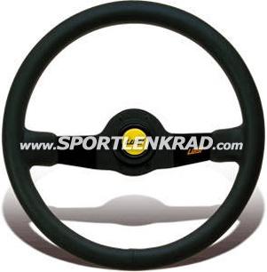 Jet Sport-Lenkrad, Wildleder sw./35, sw. Speiche