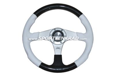 Evolution Sport-Lenkrad, Polyurethan weiß/schwarz, 36 cm