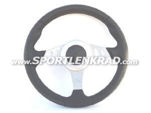 Chrono Sport-Lenkrad, Polyurethan schwarz, 35cm, Alu-Sp.