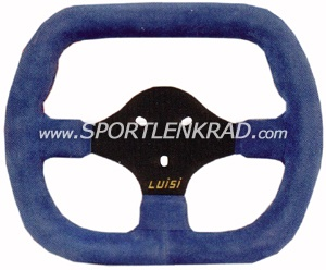Sportlenkrad Kart Indy, Polyurethan blau, schwarze Speiche