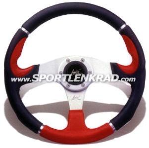 Orion Sport-Lenkrad, Polyurethan schwarz / rot, 36 cm