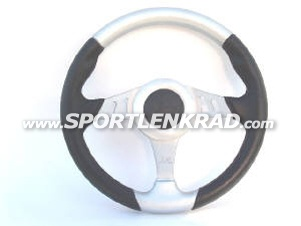 Chrono Sport-Lenkrad, Polyurethan sw./silb., Alu-Speiche