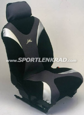Sitzbezug Metal, schwarz/silber/grau