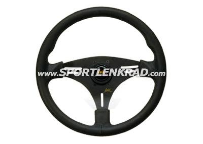 Squalo Sport-Lenkrad, Leder sw./35,5, sw. Speiche