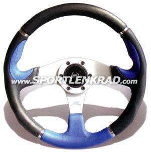 Orion Sport-Lenkrad, Polyurethan schwarz / blau, 36 cm