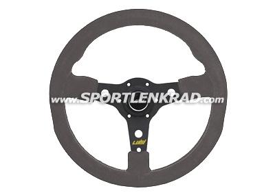Racing Sport-Lenkrad, Wildleder grau/35, sw. Speiche