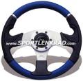 Kobra Mix Sport-Lenkrad, schwarz / blau, 32 cm