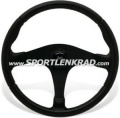 Replica Sport-Lenkrad, 35,5 cm, sw. Polyurethan