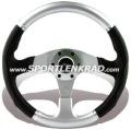 Evolution Sport-Lenkrad, Polyurethan silber/schwarz, 36 cm