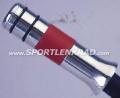 Handbremsgriff, Alu poliert/rotes Leder
