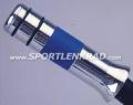 Handbremsgriff, Alu poliert/blaues Leder