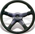 Giba 4 Elegant Sport-Lenkrad, Leder schwarz, 36,5 cm