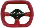 Kart Indy Kart-Lenkrad, Polyurethan rot,  sw. Speiche