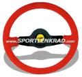 Jet Sport-Lenkrad, Wildleder rot/35, sw. Speiche