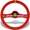 Jet Corsa Sport-Lenkrad, Wildleder rot/35, rote Speiche