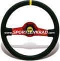 Jet Corsa Sport-Lenkrad, Wildleder sw./35, rote Speiche