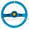 Jet Corsa Sport-Lenkrad, Wildleder blau/35, met.-blaue Sp.