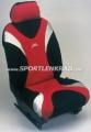 Sitzbezug Metal, schwarz/silber/rot