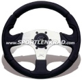 Kobra Sport-Lenkrad 32 cm, schwarz, Polyurethan