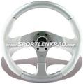 Evolution Sport-Lenkrad, Polyurethan weiß/silber, 36 cm