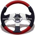 Kobra Mix Sport-Lenkrad, schwarz / rot, 32 cm