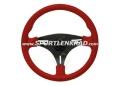 Squalo Sport-Lenkrad, Leder rot/35,5, sw. Speiche
