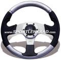 Kobra Mix Sport-Lenkrad, schwarz / silber, 32 cm