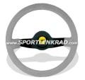 Jet Sport-Lenkrad, Wildleder grau/35, sw. Speiche